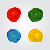 Watercolor circle splash bright elements Stock Photos