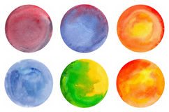 Watercolor circle vector isolated Royalty Free Stock Photos
