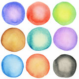 Watercolor circles Royalty Free Stock Photos