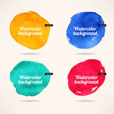Watercolor circles backgrounds Royalty Free Stock Image