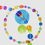 Watercolor circles Royalty Free Stock Photo