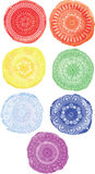 Watercolor circles. Circular ornament. Royalty Free Stock Images