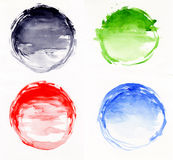 Watercolor circles Royalty Free Stock Photography