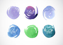Watercolor circles Stock Images