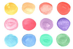 Watercolor circles Stock Image