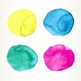 Watercolor circles Royalty Free Stock Image