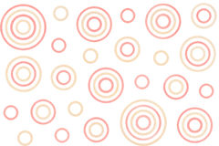 Watercolor circles pattern. Royalty Free Stock Images