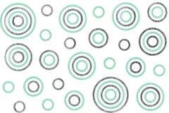 Watercolor circles pattern. Royalty Free Stock Image