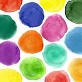 Watercolor circles pattern Royalty Free Stock Photos