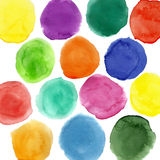Watercolor circles pattern Stock Image