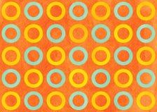 Watercolor circles pattern. Royalty Free Stock Photos