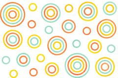 Watercolor circles pattern. Stock Images