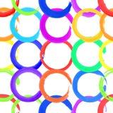 watercolor circles, seamless pattern Royalty Free Stock Image