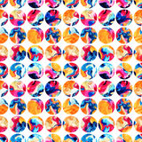 Watercolor circles seamless pattern Royalty Free Stock Photos