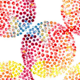 Watercolor circles seamless pattern Royalty Free Stock Image