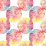 Watercolor circles seamless pattern Stock Photos