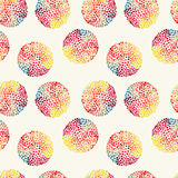 Watercolor circles seamless pattern Royalty Free Stock Photo