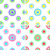 Watercolor circles seamless pattern set Royalty Free Stock Image