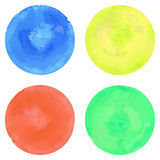 Watercolor circles set Royalty Free Stock Images