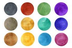Watercolor circles set royalty free illustration
