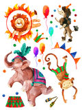 Watercolor circus. Stock Image