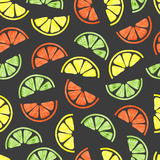 Watercolor citrus seamless pattern. Royalty Free Stock Photography