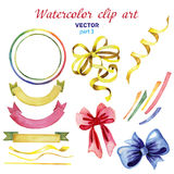 Watercolor clipart Happy birthday part 3. Watercolor set clipart Happy birthday Stock Photography