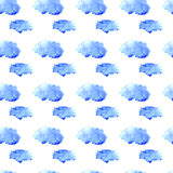Watercolor cloud pattern Royalty Free Stock Photos