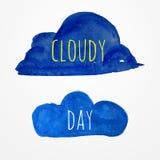 Watercolor cloud Royalty Free Stock Photo