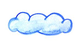 Watercolor cloud, vector illustration Royalty Free Stock Images