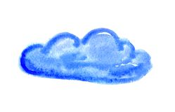 Watercolor cloud, vector illustration Royalty Free Stock Photo