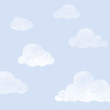 Watercolor Clouds Background Stock Image