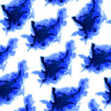 Watercolor clouds seamless pattern. Royalty Free Stock Image