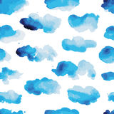 Watercolor clouds, seamless pattern for your Royalty Free Stock Images