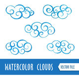 Watercolor clouds Royalty Free Stock Photo