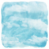 Watercolor clouds and sky background Stock Photos