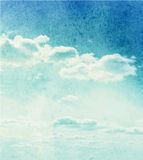 Watercolor clouds and sky background Royalty Free Stock Images