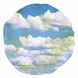 Watercolor clouds and sky background Stock Image