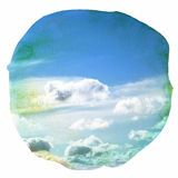Watercolor clouds and sky background Royalty Free Stock Photo