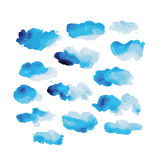 Watercolor clouds for your design Royalty Free Stock Photo