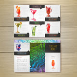 Watercolor Cocktail concept design. Corporate identity Royalty Free Stock Photography