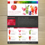 Watercolor Cocktail concept design. Corporate identity. Web site design Royalty Free Stock Photo
