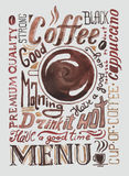 Watercolor coffee poster Royalty Free Stock Image