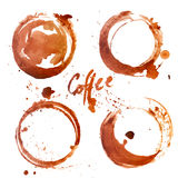 Watercolor Coffee Stain Stock Images