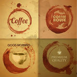 Watercolor Coffee Stain background Royalty Free Stock Images