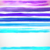 Watercolor color background with some stripes stock illustration