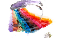 Watercolor color transitions. Rainbow. Royalty Free Stock Photo