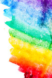 Watercolor color transitions. Rainbow. Stock Images