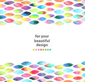 Watercolor colorful abstract background Stock Photos