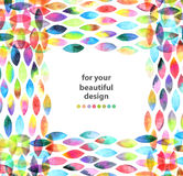 Watercolor colorful abstract background Royalty Free Stock Photos